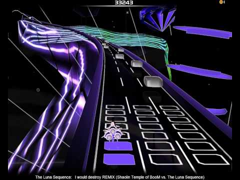 Audiosurf (Shaolin Temple of BooM vs. The Luna Sequence - I would destroy)