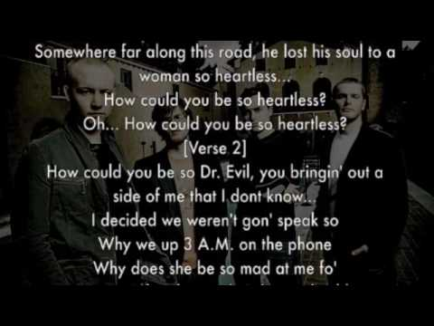 The Fray, Heartless (Kanye West Cover) +lyrics