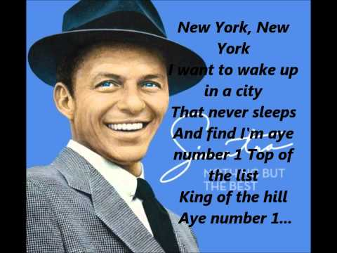 Frank Sinatra - New York New York Song **Lyrics** [HD]