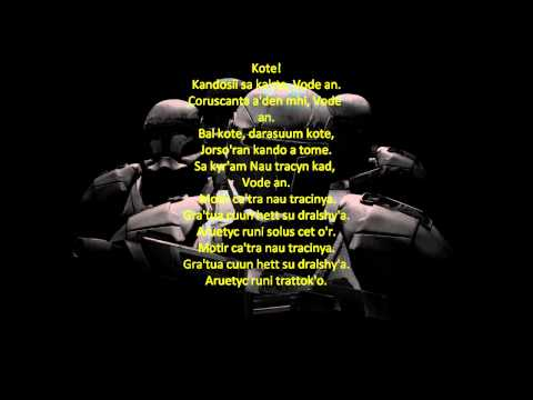 Star Wars: Republic Commando Music - Vode An w/ Ancient Mandalorian Lyrics