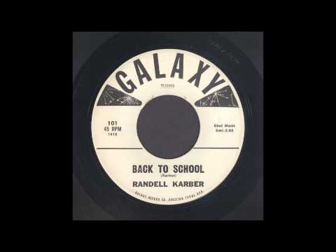 Randell Karber - Back To School - Rockabilly 45