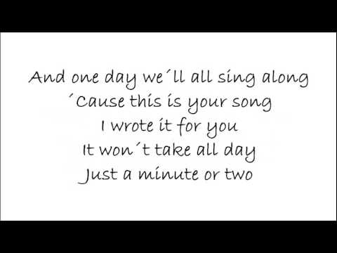 Ronan Keating This is your Song Lyrics