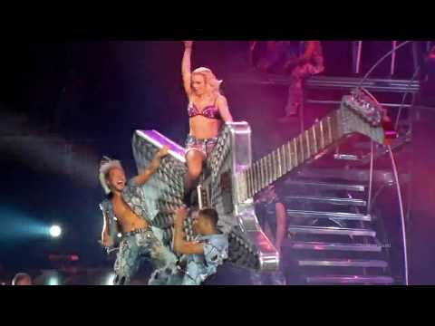 Britney Spears - Burning up ( Madonna Cover ) Femme Fatale Tour  LIVE FULL