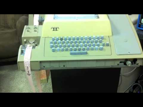 Altair 8800 - Video #7.1 - Loading 4K BASIC with a Teletype